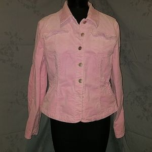 Pink light weight cord jacket size large